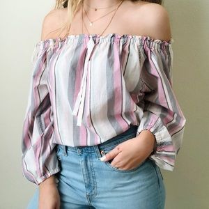 NWT Victoria's Secret pink off the shoulder top